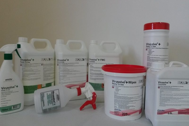 Virusolve+ cleaner and disinfectant for care homes